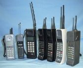 Collection of first generation analogue mobile phones
