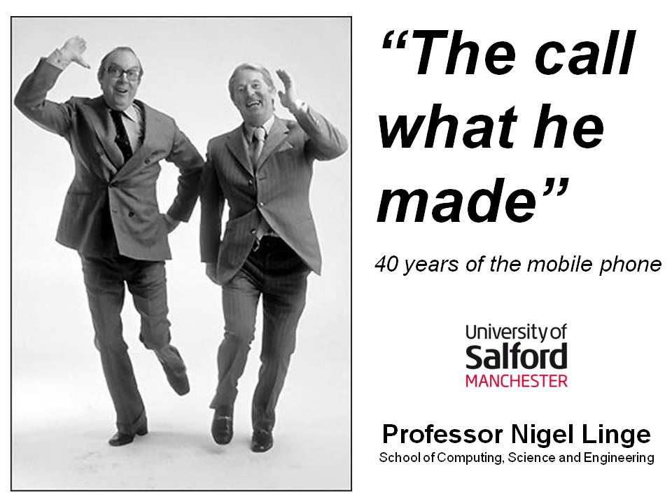IET Merseyside Lecture The call what he made title slide